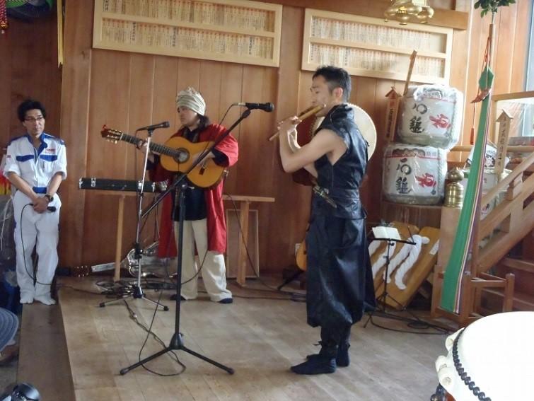 篠笛とギターのコラボ