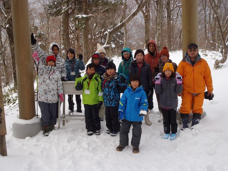 石鎚山 氷点下の雪の森観察 無事終了です(^_^)vの画像